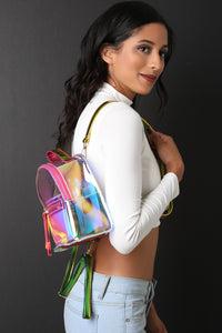 Clear Holographic Mini Backpack