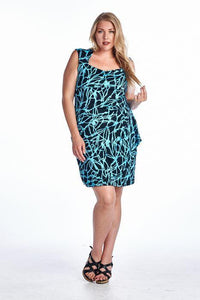 Women's Plus Size Floral Wrap Dress