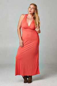 Women's Plus Size Cross Back Maxi Dress