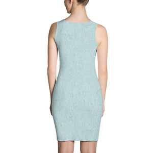 Blue Dust  Fitted Dress