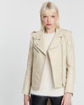 Chevron Jacket  - Almond