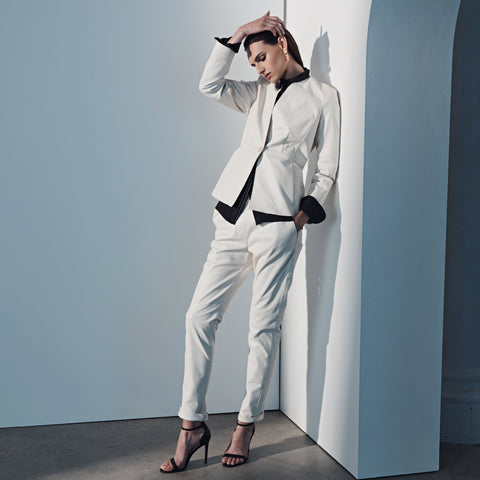 Dianne Leather Pant - Winter White