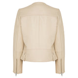 Fulton Leather Jacket - Almond