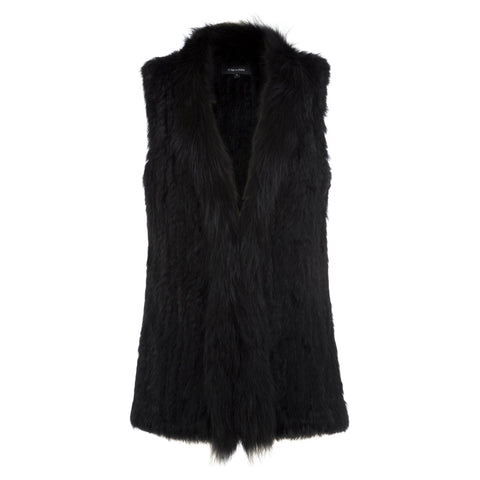 Grayson long line rabbit fur vest