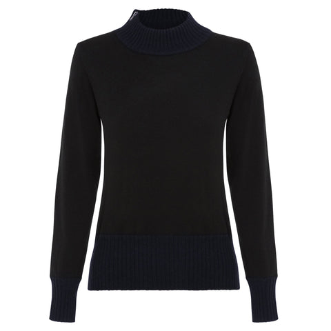 Harlow versatile wool blend turtle neck