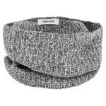 Mischa Ribbed Snood neck warmer (Salt & Pepper)