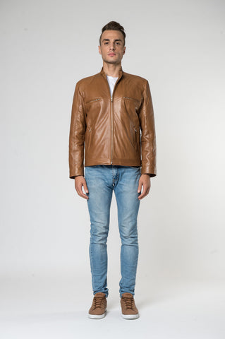 Lorenzo australian made zip bomber jacket