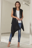 Rhianna loose fit waterfall vest