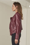 Maddox Italian lambskin leather Jacket, side view