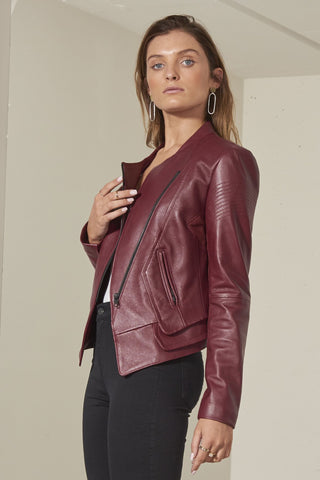 Maddox Bomber Italian lambskin leather jacket