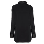 Sandringham Silk & Leather Shirt - Jet Black