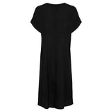 Victoria Silk Dress - Jet Black
