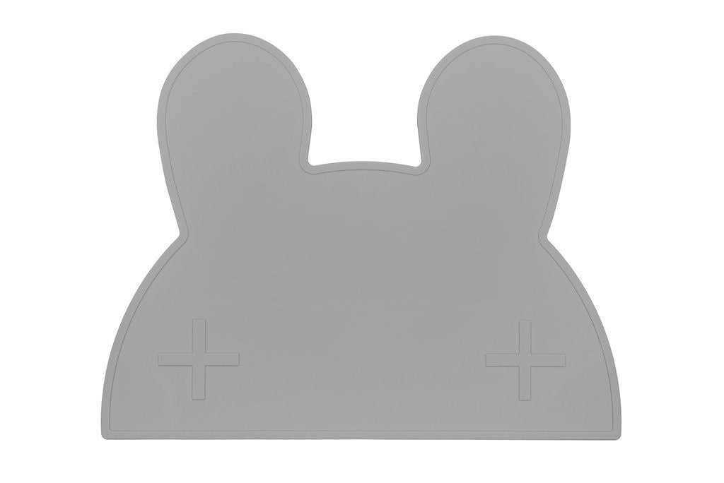 Grey Bunny Placemat, BPA Free, Safe for Kids, Designed by We Might be Tiny Buy at Thistle & Roo.