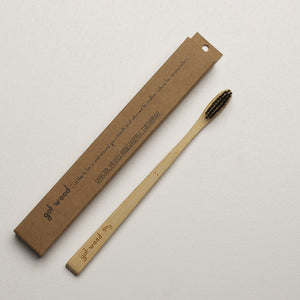Bamboo Eco Toothbrush Charcoal by Got Wood buy at Thistle & Roo