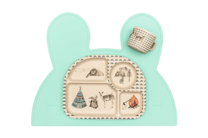 Minty Green Bunny Placemat by We Might Be Tiny Placemats, BPA Free, Silicone Non-Slip, Buy at Thistle & Roo.