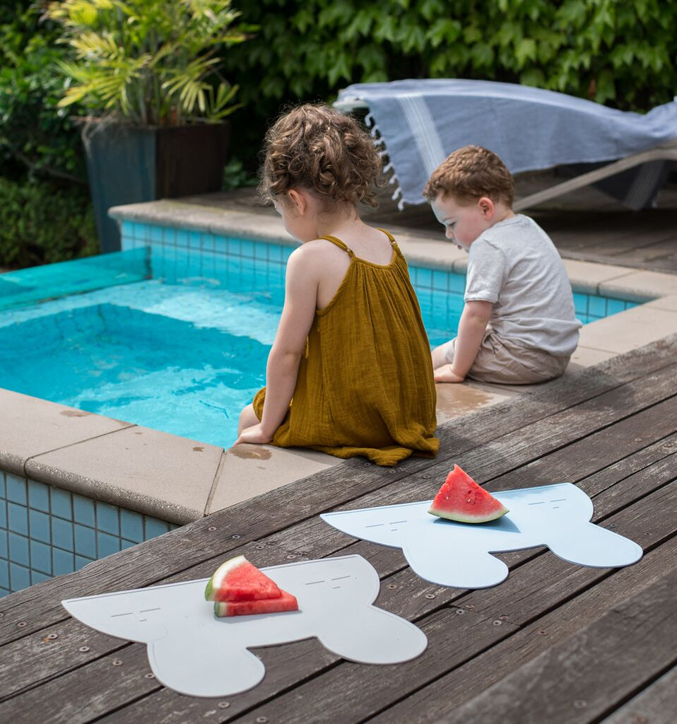 We Might Be Tiny Placemats, BPA Free, Silicone Non-Slip, Buy at Thistle & Roo.