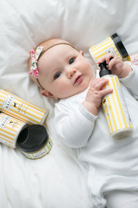 Safe, non-toxic bath and body products for baby by Little Bairn. Shop at Thistle & Roo.