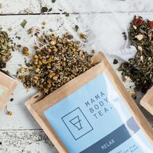 Relax Organic Herbal Tea Blend by Mama Body Tea, buy at Thistle and Roo