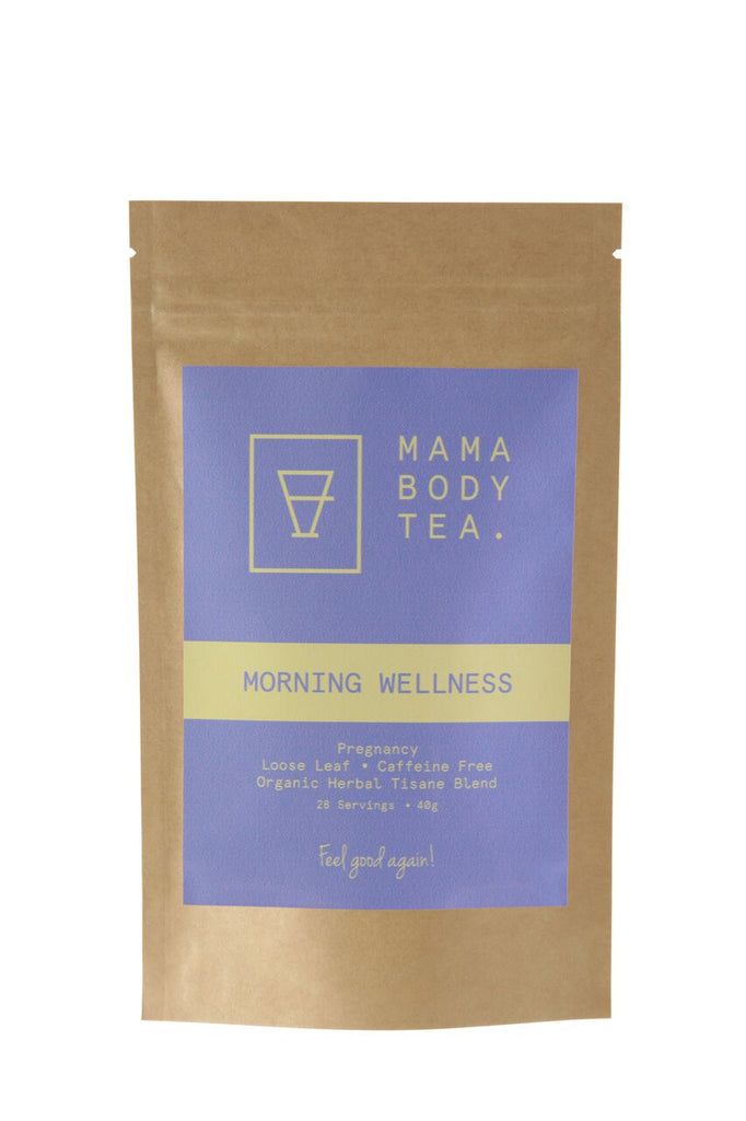 Morning Wellness Tea by Mama Body Tea. Caffeine free. Loose Leaf Tea Blend. Buy at Thistle & Roo.