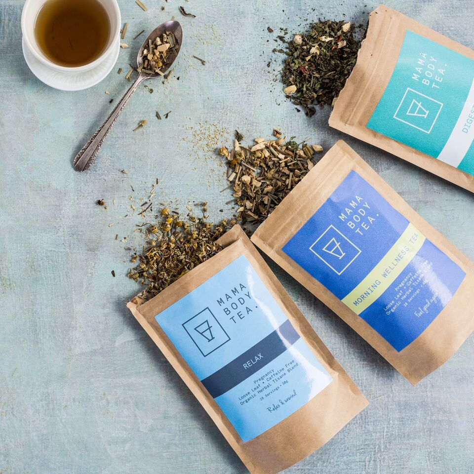 Organic Herbal Tea blend by Mama Body Tea, Caffeine Free, Loose Leaf, buy at Thistle & Roo.