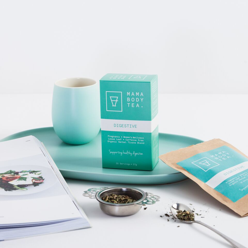 Digestive Tea, Organic Herbal Tea blend by Mama Body Tea, Caffeine Free, Loose Leaf, buy at Thistle & Roo.