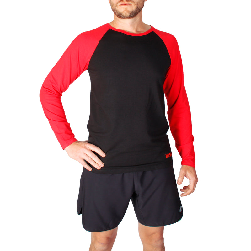 bamboo and organic cotton clothing, Australian made clothing, sustainable sportswear, men's long sleeve sportswear, winter workout gear