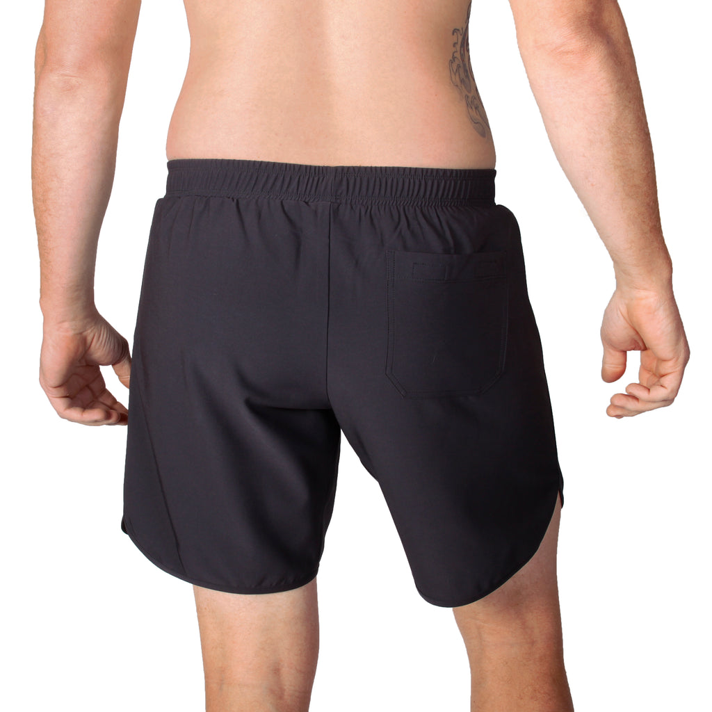 shorts with back pocket, men's gym gear, men's workout shorts