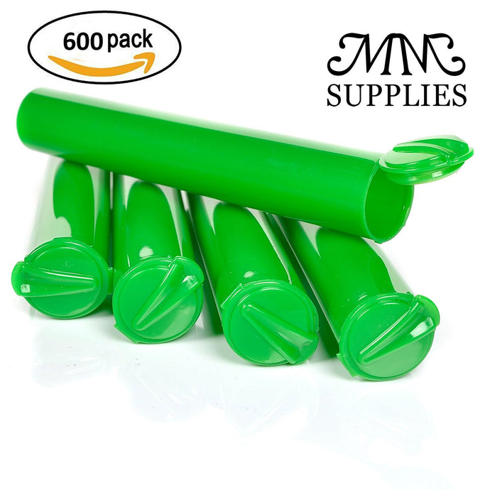Blunt Tubes / Joint Tubes Case of 600 Opaque Green 120mm