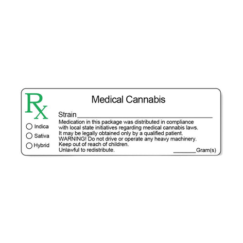 Generic Medical Marijuana Labels
