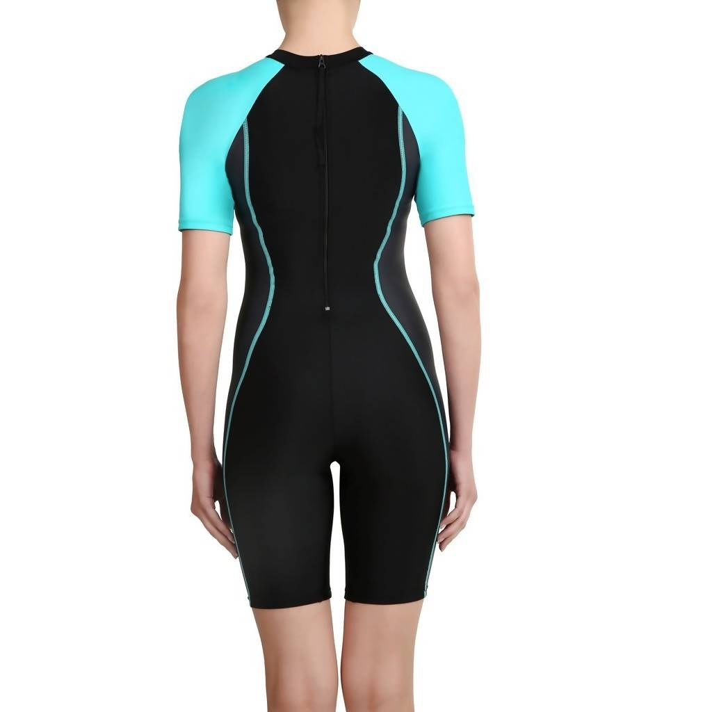SPEEDO AF ESSENTIAL SPLICED KNEESUIT - BLACK/OXID GREY/BALI BL