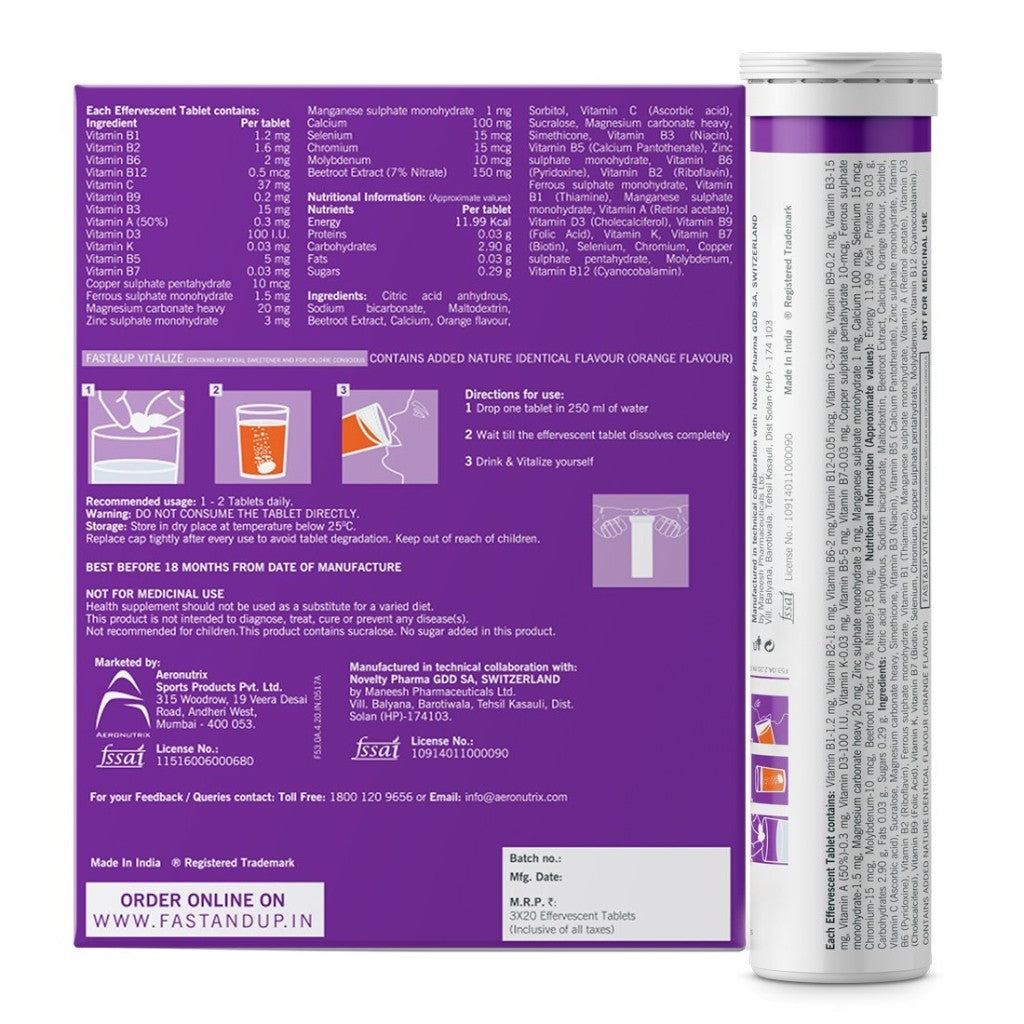 Vitalize-Pack of 3 Tubes