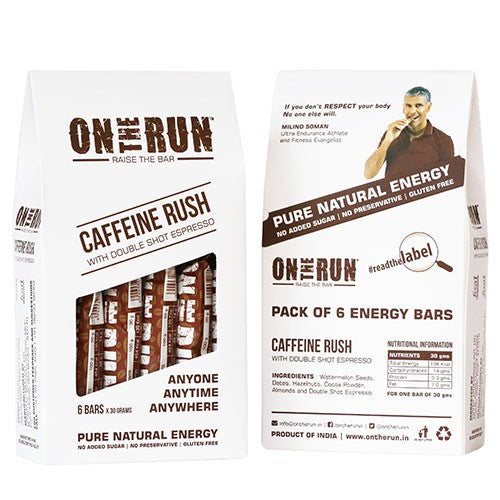 On The Run - Caffeine Rush (Pack Of 6)