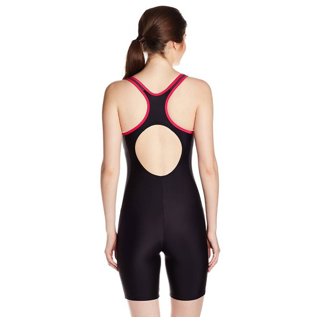 SPEEDO AF ESSENTIAL SPLICE MSLBCK LEGSUIT - BLACK/OXD GREY/MGNT