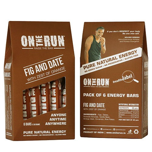 On The Run - Fig and Date (Pack Of 6)