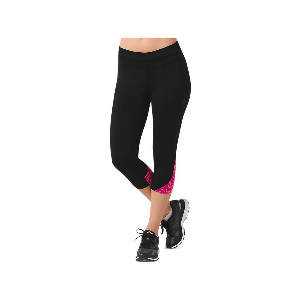 RACE KNEE TIGHT - PERFORMANCE BLACK/LITE STRIPE COSMO PINK