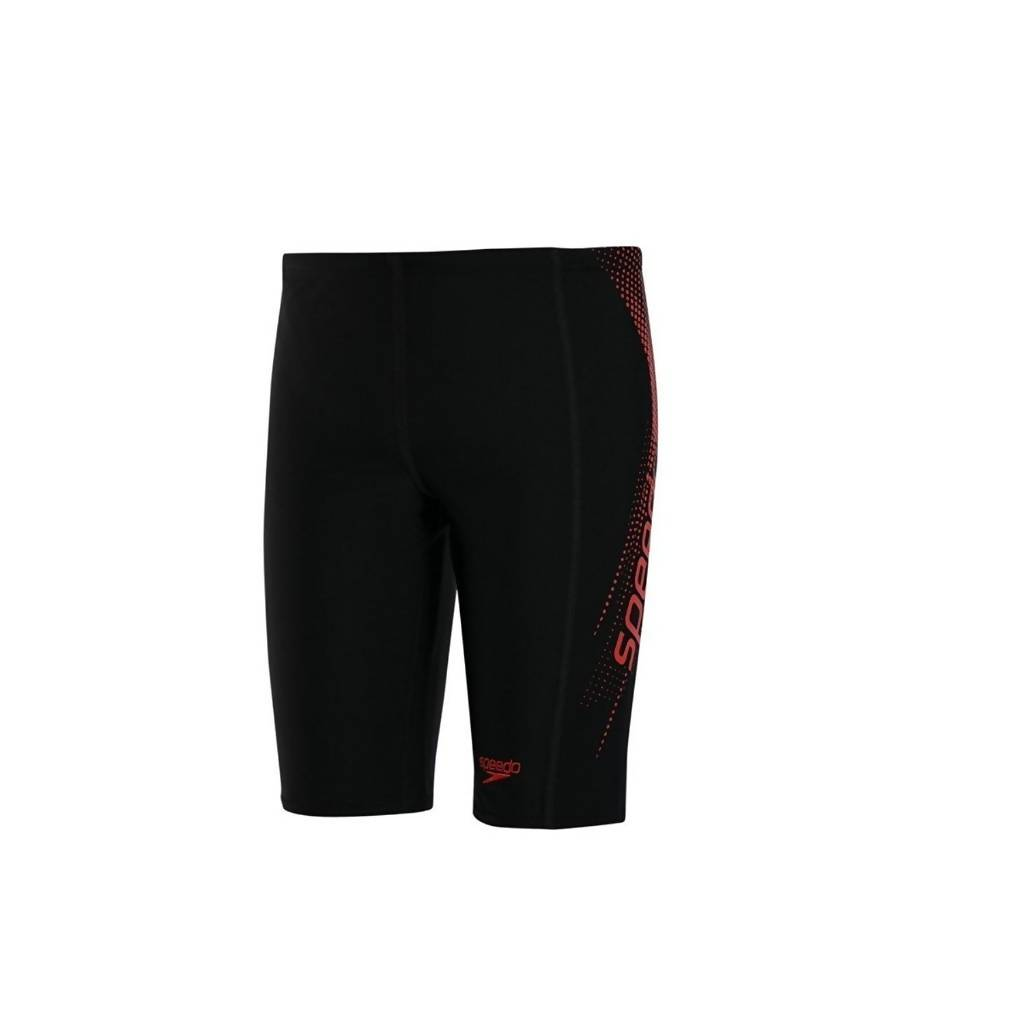 SPEEDO AM SPORTS LOGO JAMMER - BLK/LAVA RD