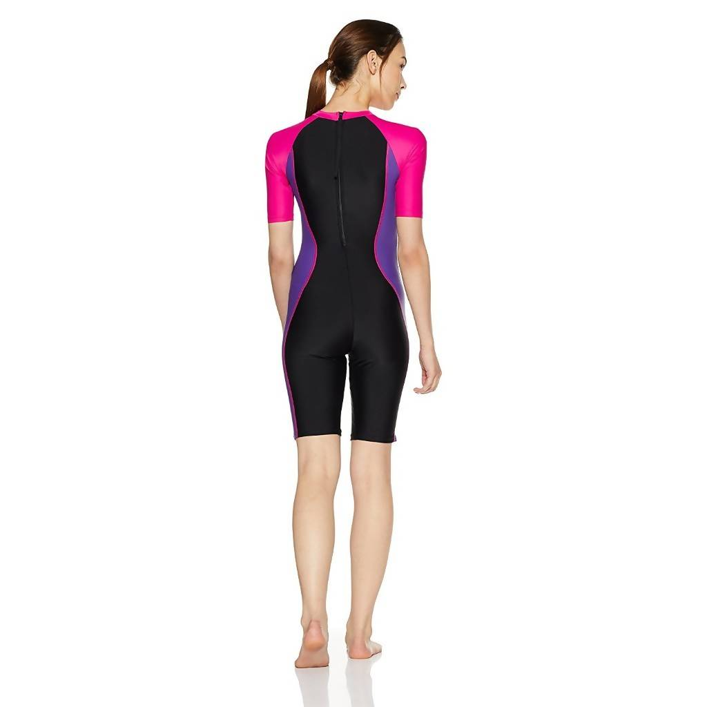 SPEEDO AF ESSENTIAL SPLICED KNEESUIT - BLACK/TAPSTY/ELECTRIC PINK