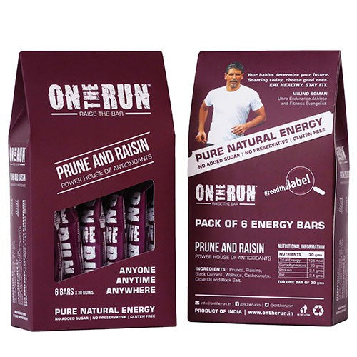 On The Run - Prune And Raisin (Pack Of 6)