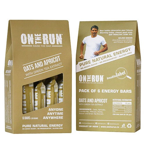 On The Run - Oats And Apricot (Pack Of 6)