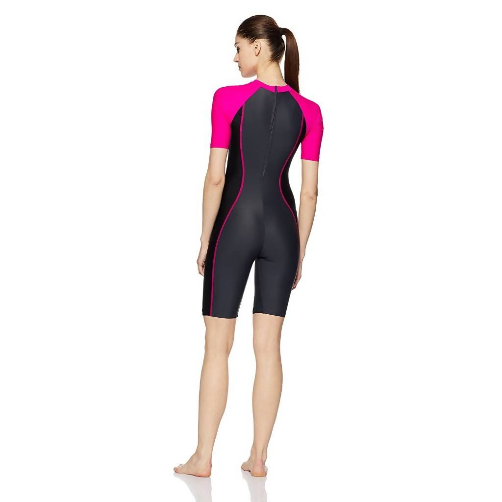 SPEEDO AF ESSENTIAL SPLICED KNEESUIT - OXID GREY/BLACK/ELECTRIC PINK