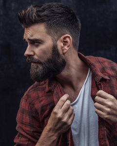 How to make a curly beard straight.