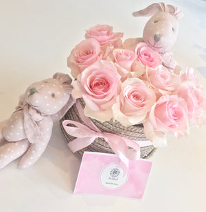 Pink Rabbit Basket