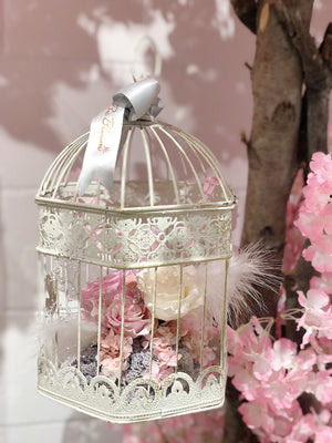 Preserved Flowers in Cage