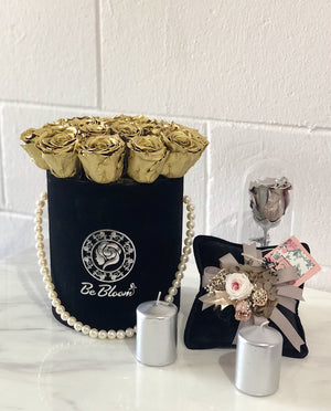 Gold Rose Bucket