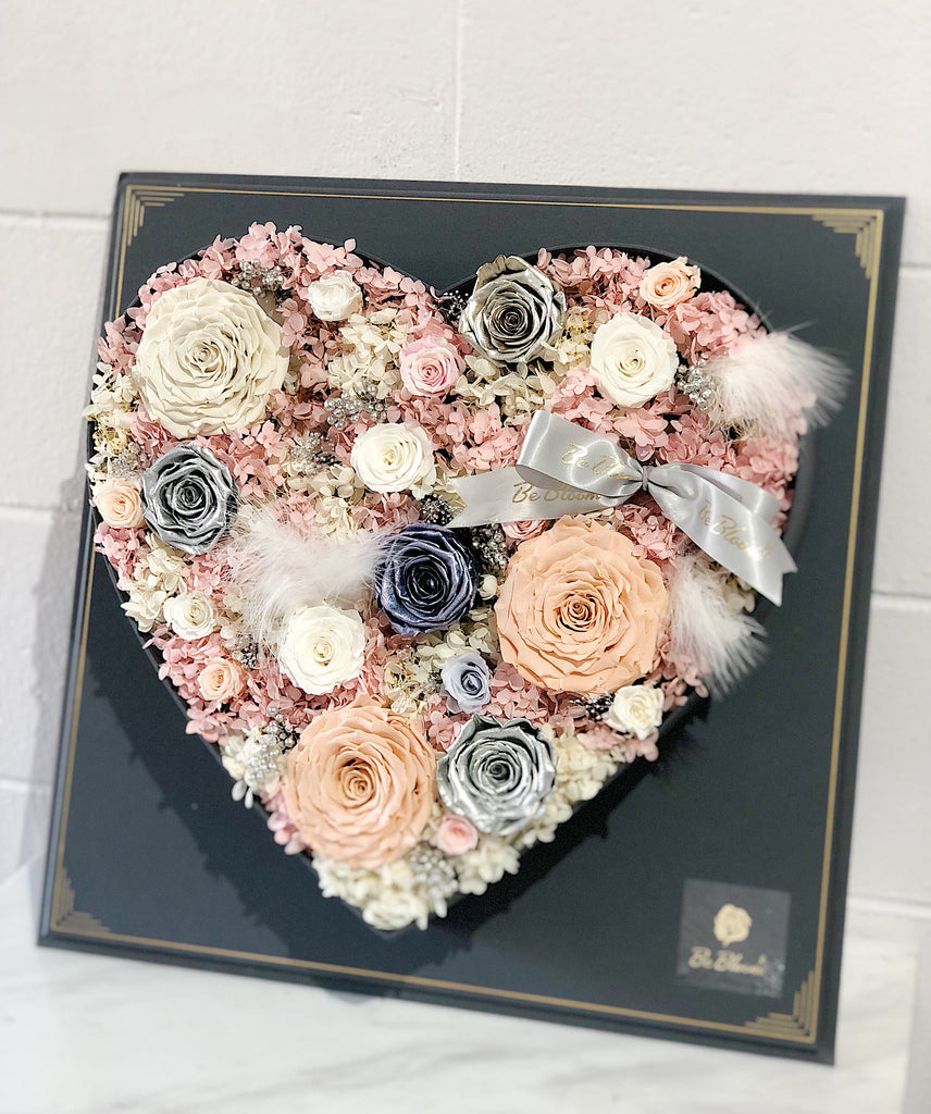 Heart Framed Preserved Flower Box