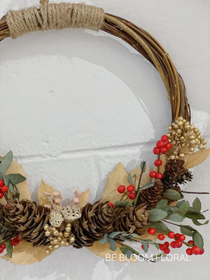 Christmas Eternal Pinecone Wreath
