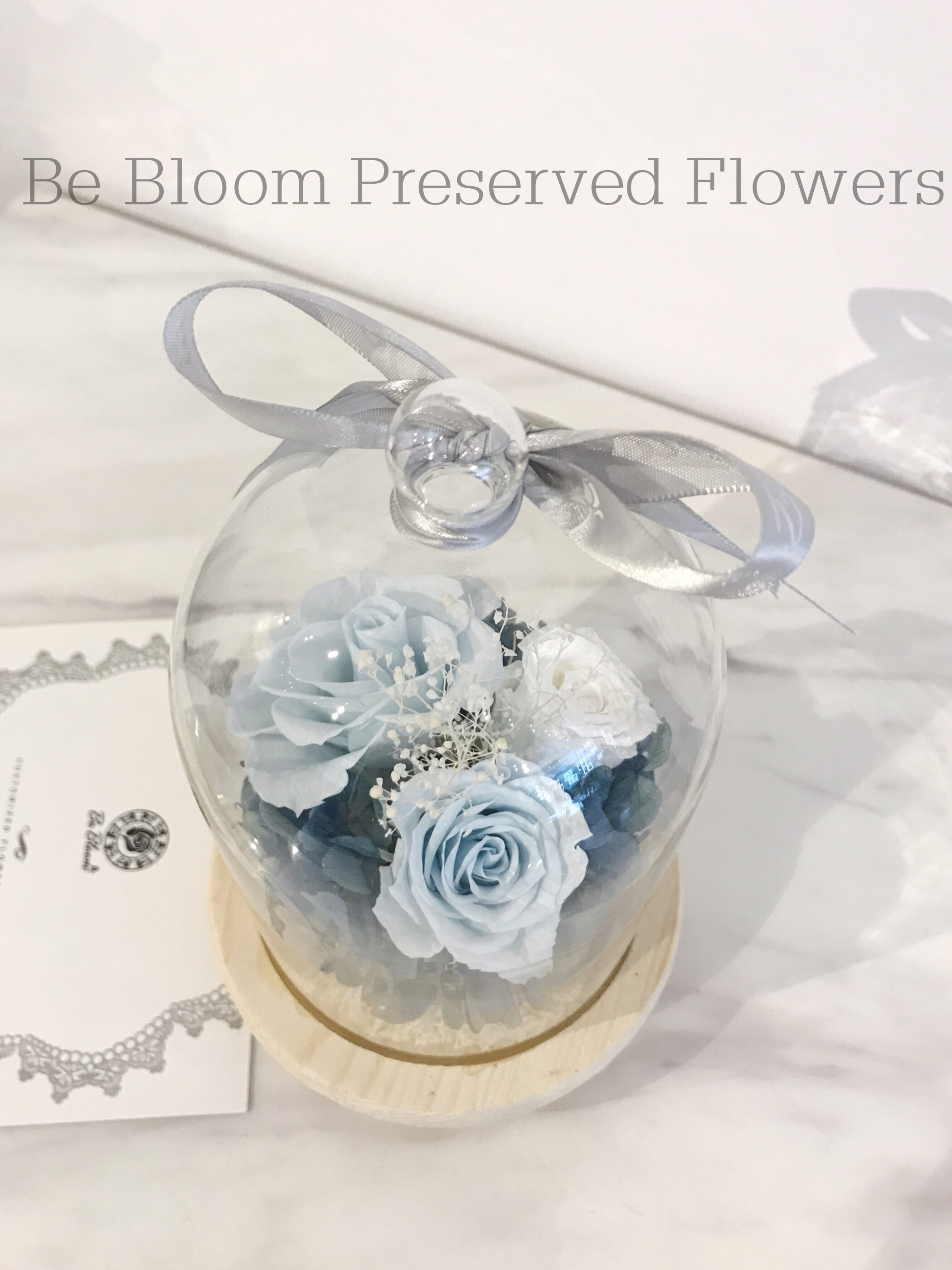 Preserved Flower Glass Bottle