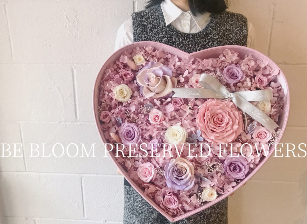 "Preserved Flower - ""Heart"" Box"