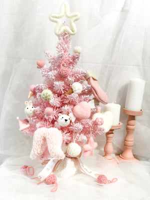 Wool Felt Christmas Tree - Pink Theme