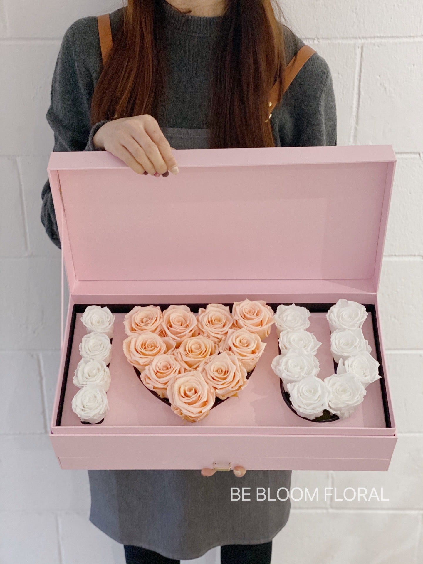 """ I Love You"" Preserved Flower Box"